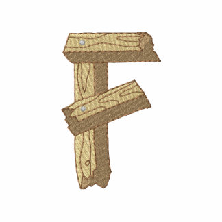 Hölzernes Alphabet F