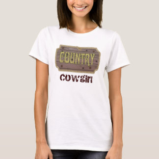 Hölzernes Art-Land und Western T-Shirt