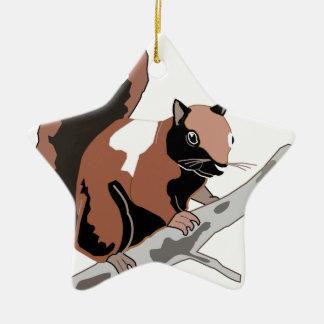 Hölzernes Eichhörnchen Keramik Ornament