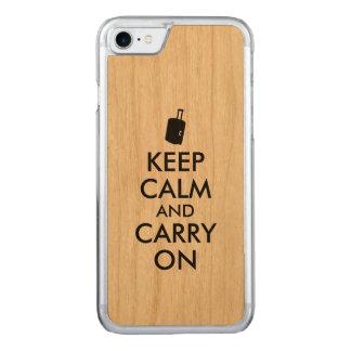 Hölzernes iphone 6 behalten Ruhe und machen Reise Carved iPhone 8/7 Hülle