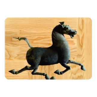 Hölzernes Jahr der Pferdegewohnheits-Einladung 12,7 X 17,8 Cm Einladungskarte