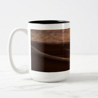 Hölzernes Kanu und Paddel-Tasse Zweifarbige Tasse