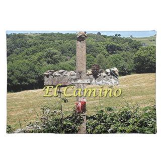 Hölzernes Kreuz, EL Camino, Spanien Tischset