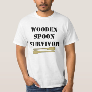 Hölzernes Löffel-Überlebend-Shirt T-Shirt
