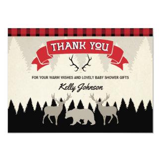 Holzfäller-Babyparty danken Ihnen zu kardieren Karte