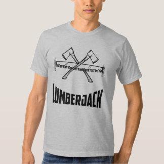 Holzfäller-Blockwinde-Axt u. Säge T-shirt