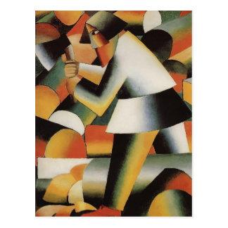 Holzfäller durch Kazimir Malevich Postkarte