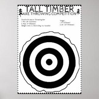 Holzfäller-Geburtstag - Axt-werfendes Spiel-Plakat Poster