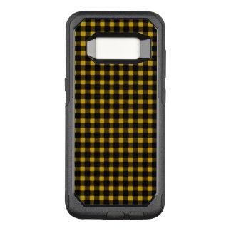 Holzfäller-gelber schwarzer Winter-Büffel kariert OtterBox Commuter Samsung Galaxy S8 Hülle
