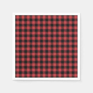 Holzfäller-Papierserviette rotes schwarzes Papierserviette