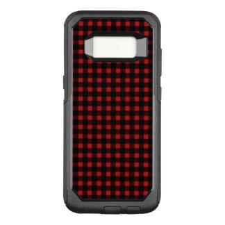 Holzfäller-roter schwarzer Winter-Büffel kariert OtterBox Commuter Samsung Galaxy S8 Hülle