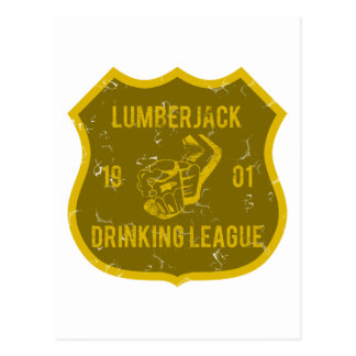 Holzfäller-trinkende Liga Postkarte