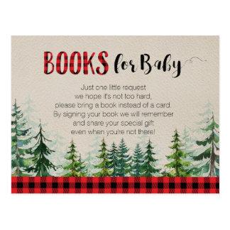 Holzfäller-Waldwaldbücher für Baby Postkarte