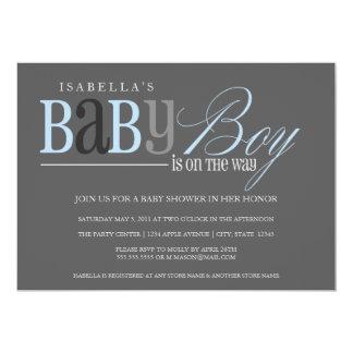 Holzkohle des Baby-| 12,7 X 17,8 Cm Einladungskarte