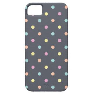 Holzkohlen-Pastell-Tupfen iPhone 5 Schutzhüllen