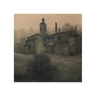 Holzleinwand - Abandoned Place Villa Lost Place
