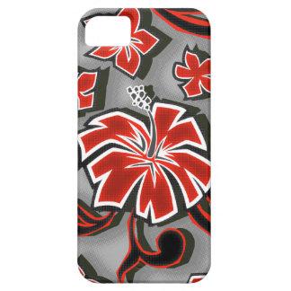 Holzschnitt-Hibiskus hawaiischer iPhone 5 Fall Barely There iPhone 5 Hülle