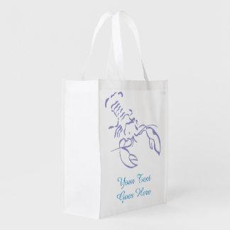 Homard bleu sac d'épicerie