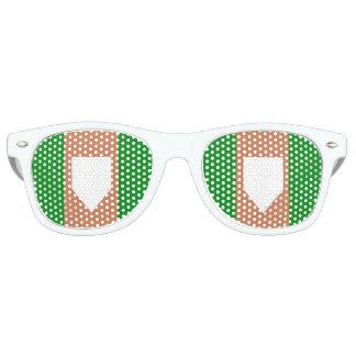 homeplate erwachsene Retro Party-Schatten, weiß Retro Sonnenbrillen