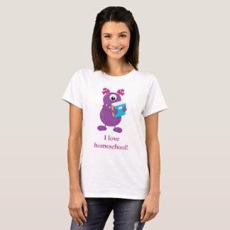 Homeschool de l'amour de monstre t-shirt