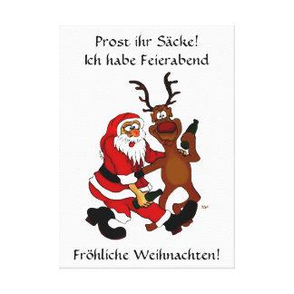 Homme de Noël avec l'élan - Prost lui sacs ! Toiles