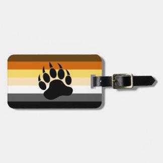 Homosexuelle Bärn-Stolz-Flaggen-Bärenpranke Gepäckanhänger