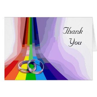 Homosexuelle Hochzeit danken Ihnen Gruß-Karte Karte