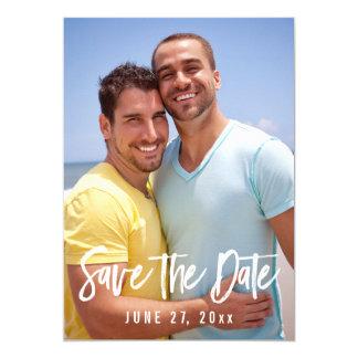 Homosexuelle Hochzeits-Foto-Save the Date Karten 12,7 X 17,8 Cm Einladungskarte