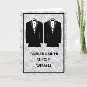Homosexuelle Hochzeits-Heirat-Karte Karte