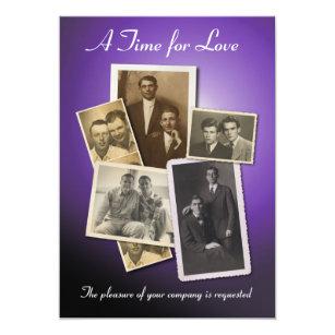 Schön Homosexuelle Hochzeitseinladung Mit Vintagen Einladung