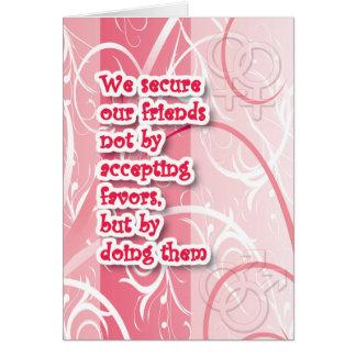 Homosexuelle Karten - sichere Freunde