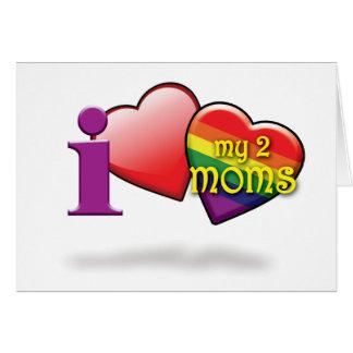 Homosexuelle Mutter-Tageskarten - Luv 2 Mammen Karte