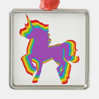 Homosexuelle Regenbogen-Stolz-Feiertags-Verzierung Silbernes Ornament