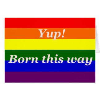 Homosexuelle Regenbogenflagge Yup geboren auf Karte