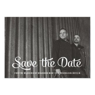Homosexuelle Retro Save the Date Foto-Karte 12,7 X 17,8 Cm Einladungskarte