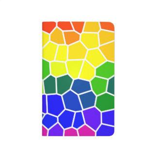 Homosexueller LGBTQ Regenbogen farbiges helles Taschennotizbuch