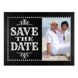 Homosexuelles Foto Save the Date Postkarte