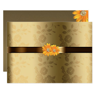 Homosexuelles/lesbisches Gold u. schokoladenbraune 11,4 X 15,9 Cm Einladungskarte