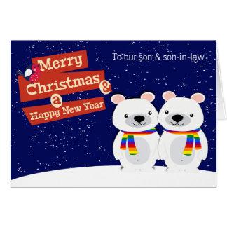 Homosexuelles Themed Weihnachtspolare Bären Grußkarte