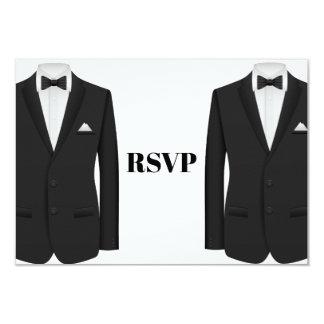 Homosexuelles Tuxedo-Hochzeits-Einladung UAWG Karte