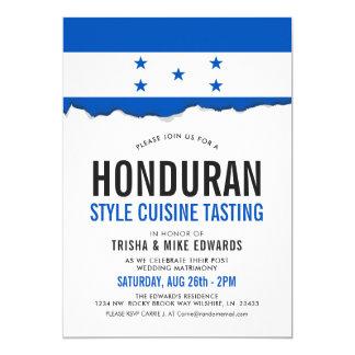 Honduranisches Party-Flaggen-Weiß des Cuisine-| Karte