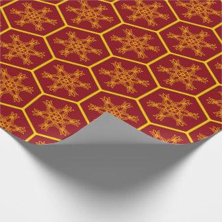 Honeycomb drawing pattern einpackpapier