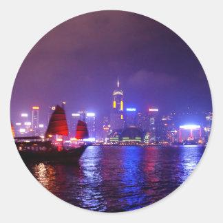 Hong Kong Runder Aufkleber