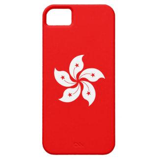 Hong Kong-Flaggen-weißes Orchideen-Symbol auf Rot iPhone 5 Hülle