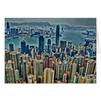 Hong Kong-Insel Grußkarte