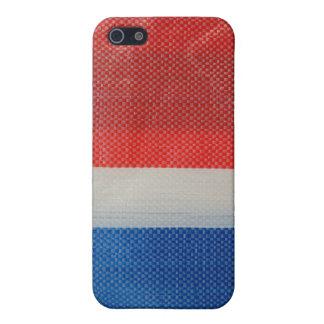 Hong Kong Vintag - rote weiße und Blau-Streifen iPhone 5 Cover