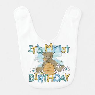 Honig-Bärn-1. Geburtstags-Schellfisch Babylätzchen