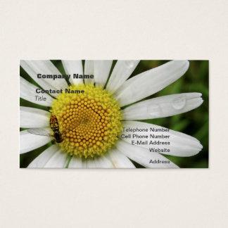 Honig-Biene auf einem Gänseblümchen Visitenkarte