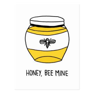 Honig, Bienen-Bergwerk Postkarte
