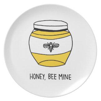 Honig, Bienen-Bergwerk Teller
